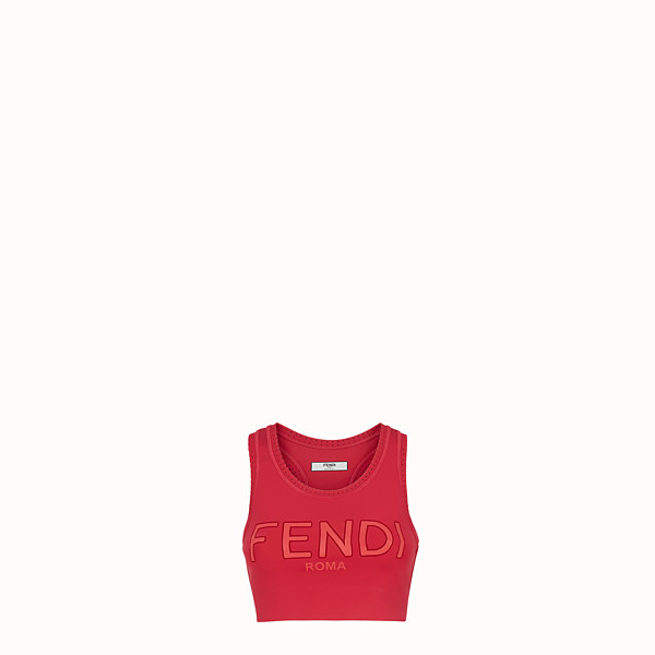 FENDI TOP - Red fabric top - view 1 small thumbnail