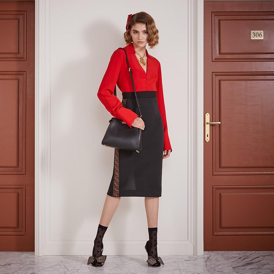 FENDI SKIRT - Black piqué skirt - view 4 detail