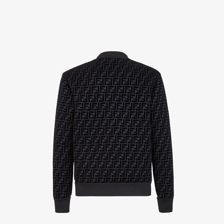 FENDI BLOUSON - Giacca in jersey nero - vista 2 dettaglio