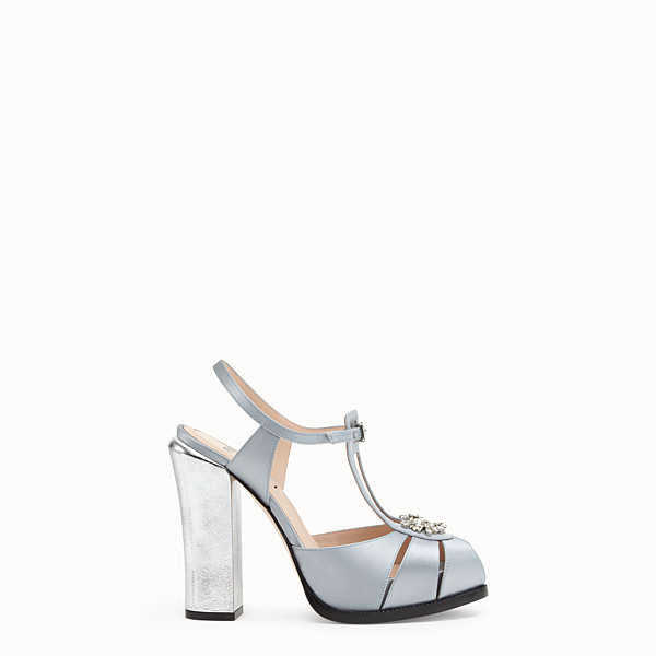 FENDI SANDALS - Grey satin sandals - view 1 small thumbnail