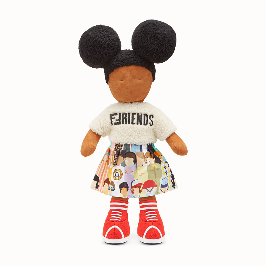 FENDI NUMBERED COLLECTABLE DOLL - Collectable doll in sheepskin and poplin - view 1 detail