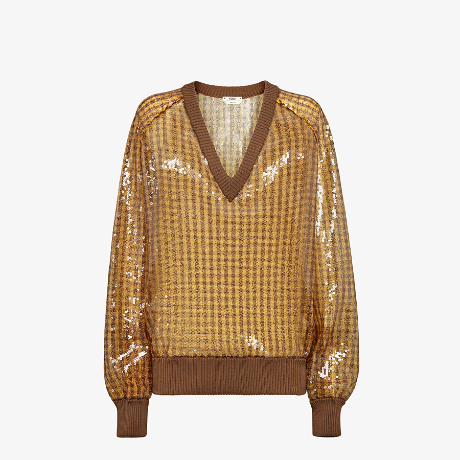 FENDI JUMPER - Vichy sequin pullover - view 1 detail