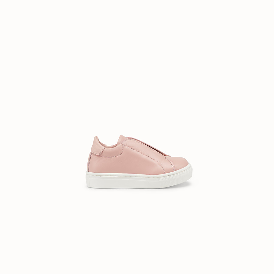 FENDI SNEAKERS - Pink leather first steps sneakers - view 1 detail