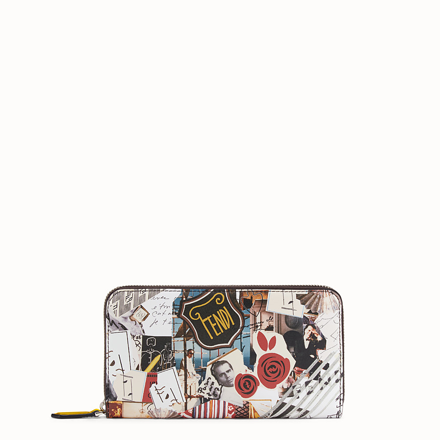 FENDI ZIP-AROUND - Multicolour leather wallet - view 1 detail