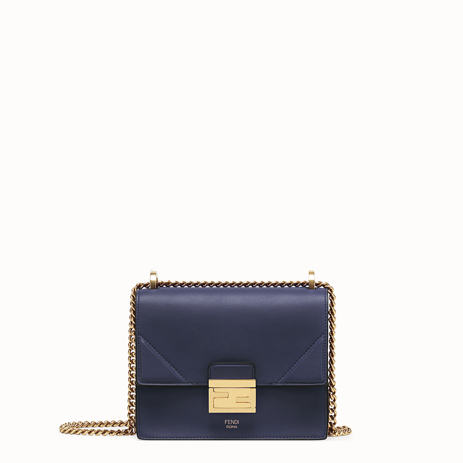 FENDI KAN U SMALL - Blue leather mini-bag - view 1 detail