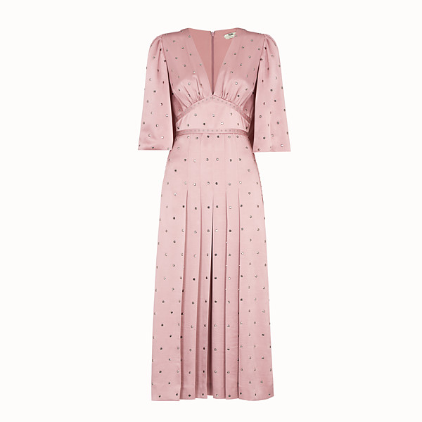 FENDI DRESS - Pink satin dress - view 1 small thumbnail