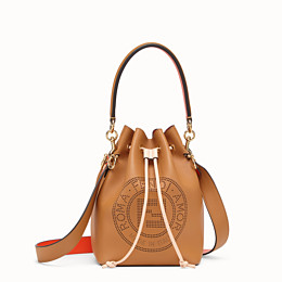 FENDI MON TRESOR - Brown leather bag - view 1 thumbnail