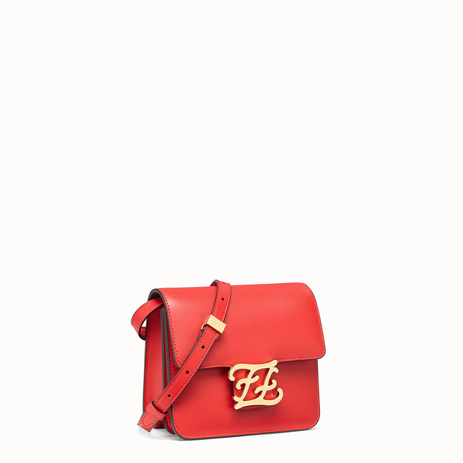 FENDI KARLIGRAPHY - Red leather bag - view 2 detail