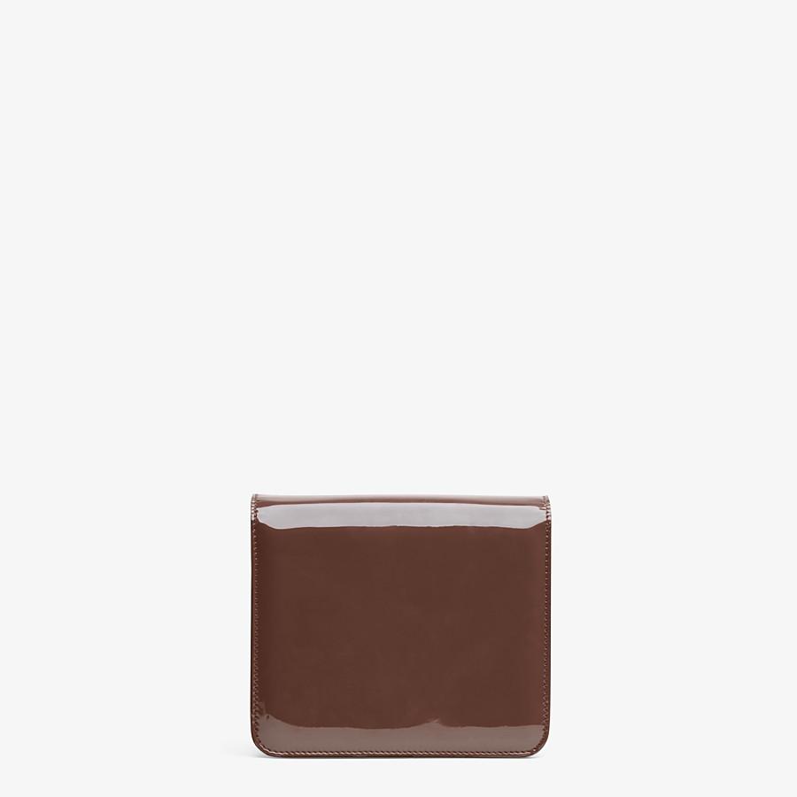 FENDI KARLIGRAPHY - Brown patent leather bag - view 4 detail