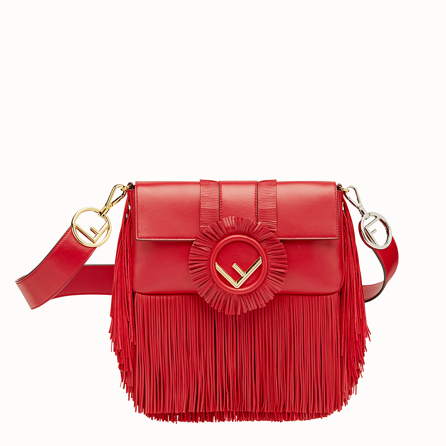 FENDI BAGUETTE - Red nappa bag - view 1 detail