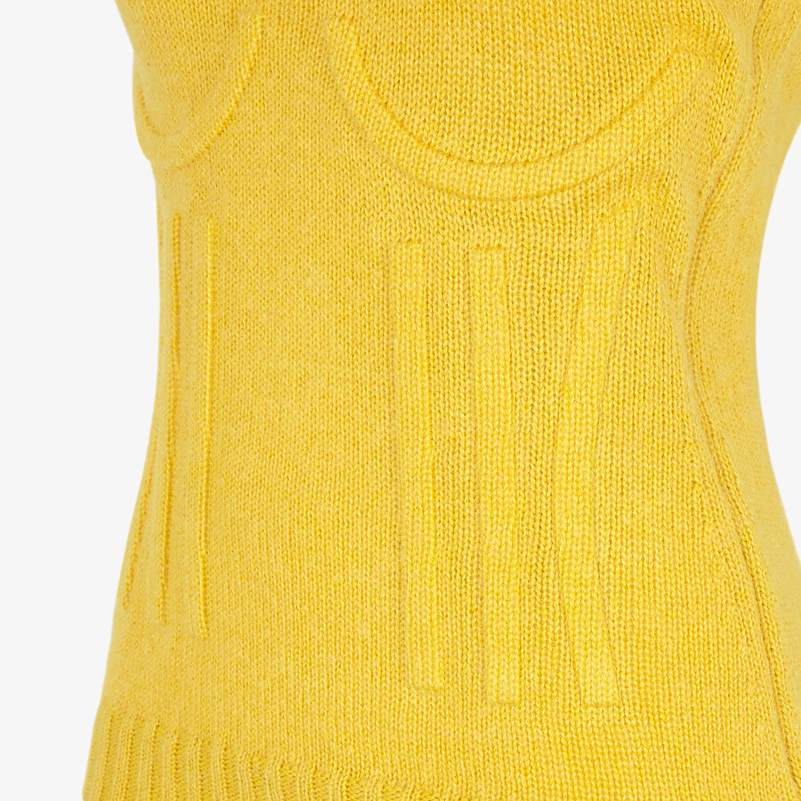 FENDI TOP - Yellow mohair and cashmere top - view 3 detail