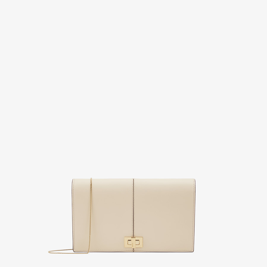 FENDI WALLET ON CHAIN - Beige leather mini bag - view 1 detail