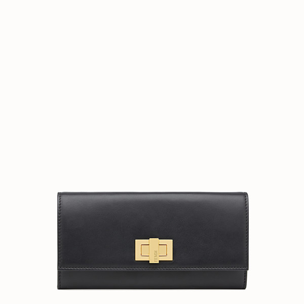 FENDI PEEKABOO CONTINENTAL WALLET - Continental wallet in black leather - view 1 small thumbnail