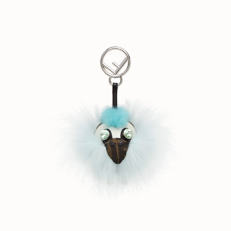 FENDI SPACE MONKEY - Pale blue fur charm - view 2 detail
