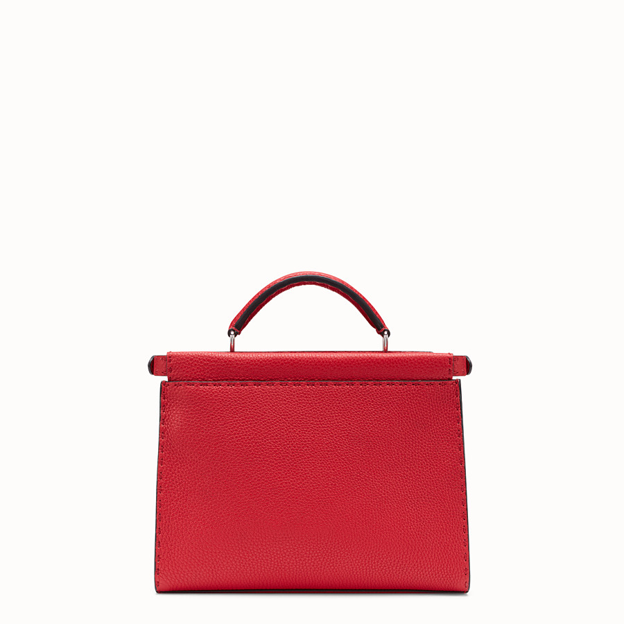 FENDI MINI PEEKABOO FIT - Red Romano leather bag - view 3 detail