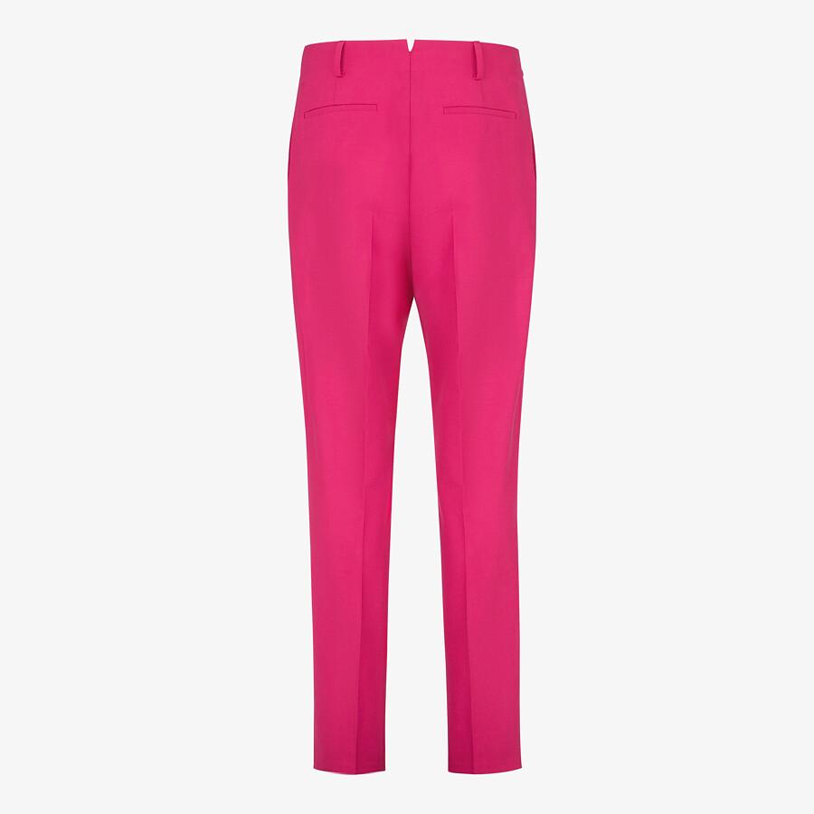 FENDI PANTS - Fuchsia wool pants - view 2 detail