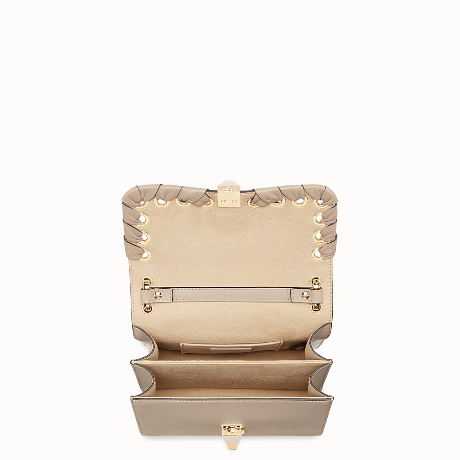 FENDI KAN I SMALL - Beige leather mini-bag - view 4 detail
