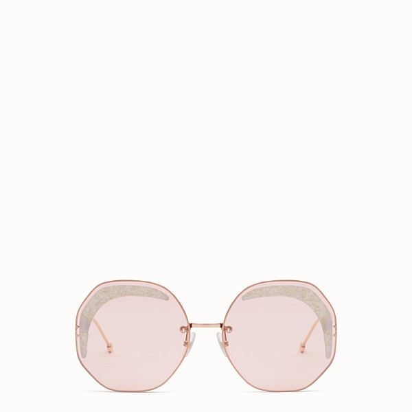 FENDI FENDI GLASS - Copper-colored sunglasses - view 1 small thumbnail