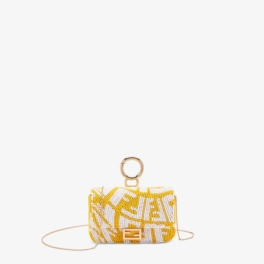 FENDI NANO BAGUETTE CHARM - Charm with yellow beads - view 1 detail