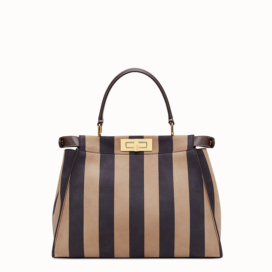 FENDI PEEKABOO ICONIC MEDIUM - Brown nubuck leather bag - view 4 detail