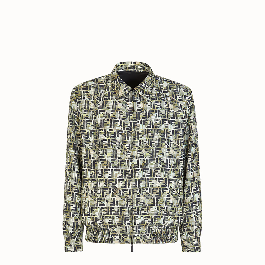 FENDI BLOUSON JACKET - Multicolour silk jacket - view 1 detail
