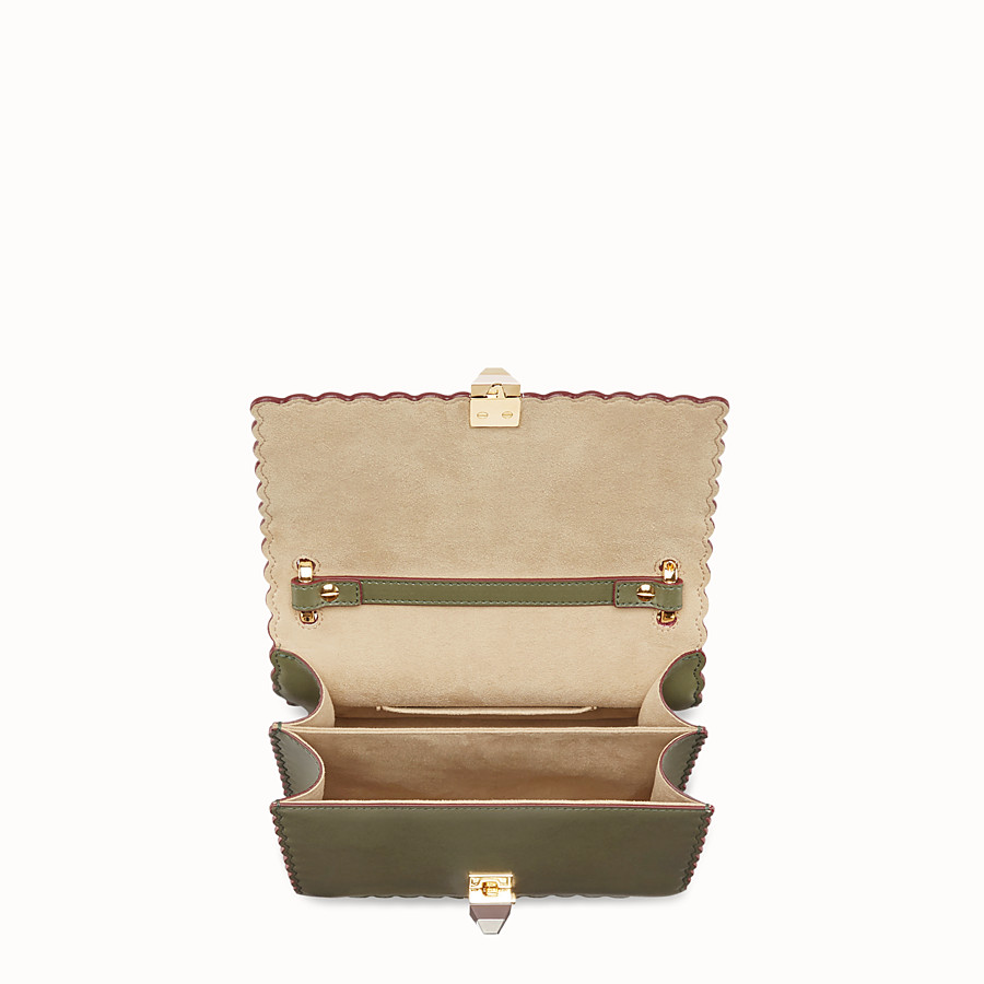 FENDI KAN I SMALL - Green leather mini-bag - view 4 detail