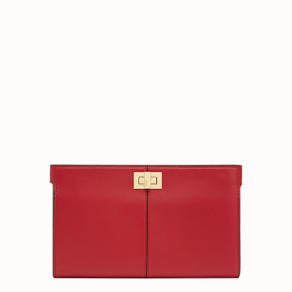 FENDI WALLET - Red leather wallet - view 1 small thumbnail