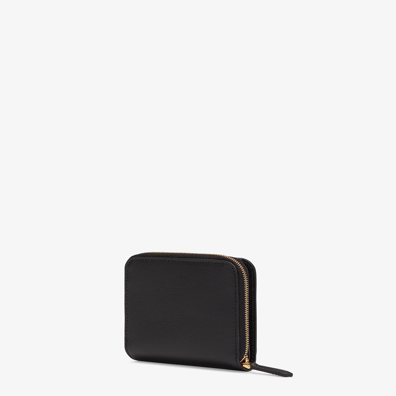 FENDI MEDIUM ZIP-AROUND - Black leather wallet - view 2 detail