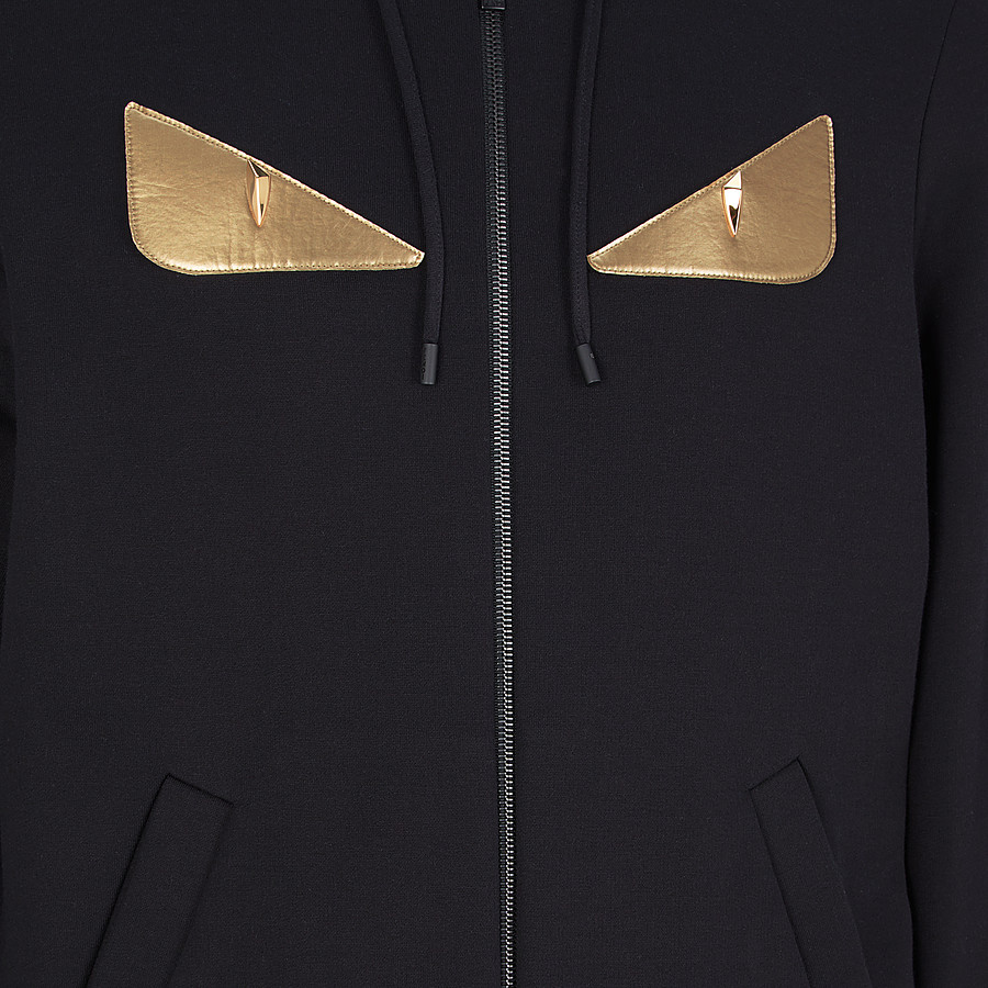 FENDI SWEATSHIRT - Black sweatshirt with hood - view 3 detail