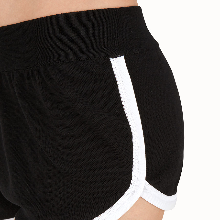 FENDI SHORTS - Shorts in black technical fabric - view 3 detail