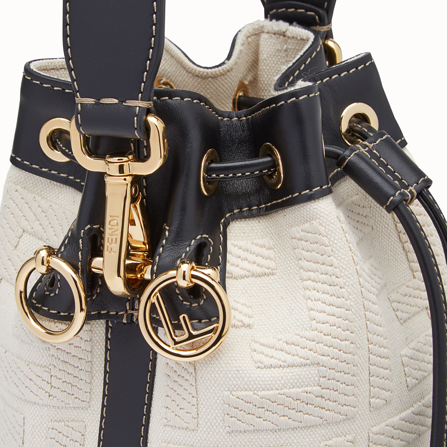 FENDI MON TRESOR - Mini bag in beige canvas - view 6 detail