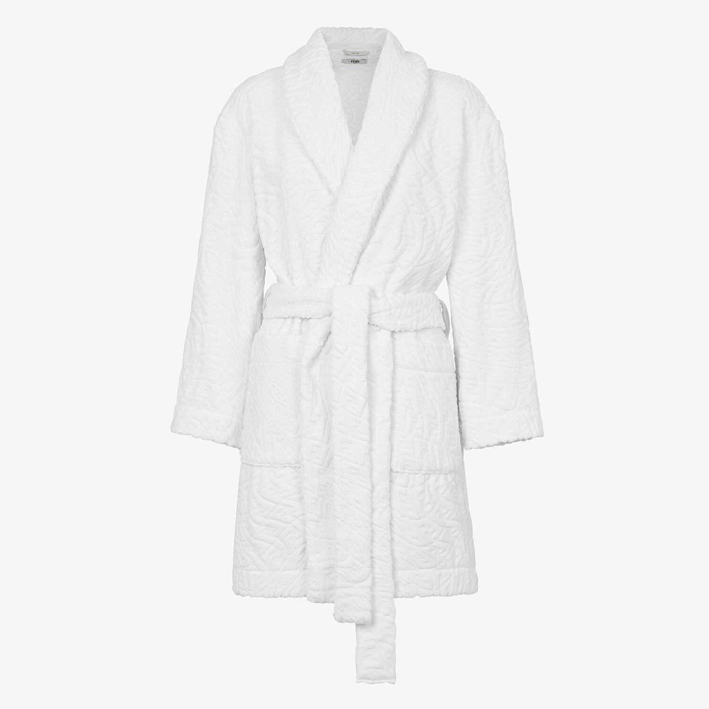 FENDI BATHROBE - White cotton bathrobe - view 1 detail
