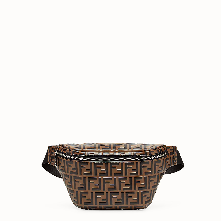 FENDI BELT BAG - Brown leather belt bag - view 1 detail