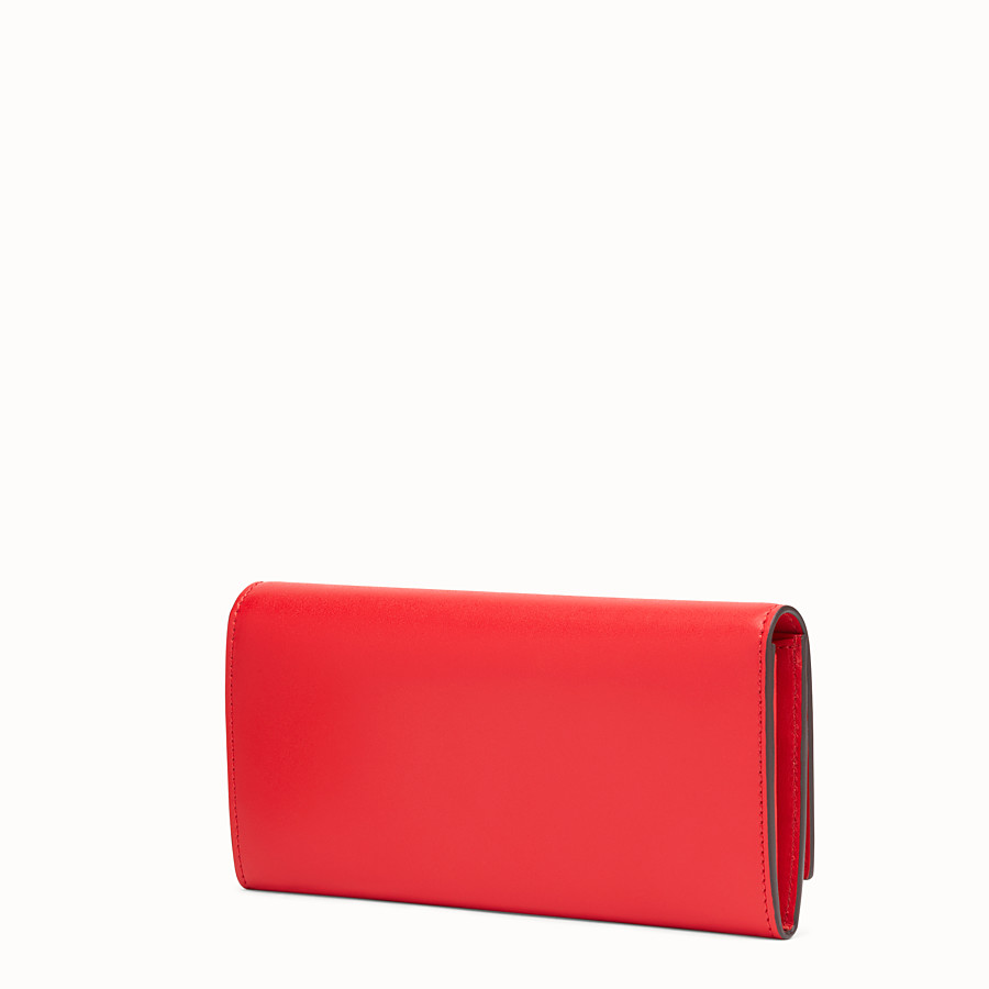 FENDI CONTINENTAL - Flame-red leather continental wallet - view 2 detail