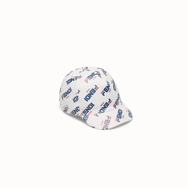 FENDI BASEBALL CAP - White nylon baseball cap - view 1 small thumbnail