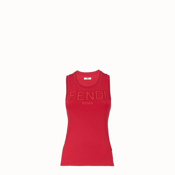 FENDI TANK TOP - Red fabric top - view 1 small thumbnail