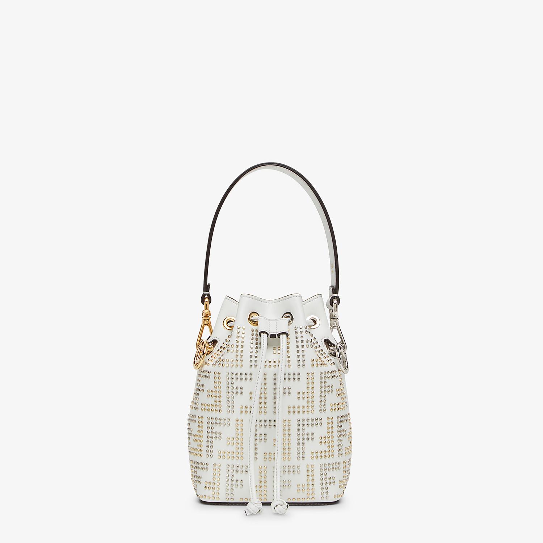FENDI MON TRESOR - White leather minibag - view 1 detail