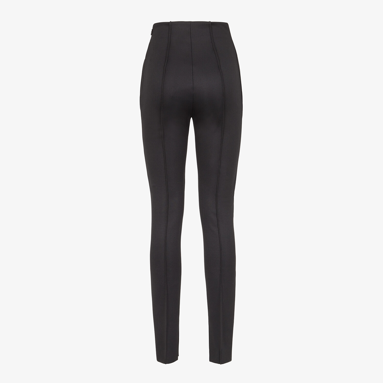 FENDI TROUSERS - Black piqué trousers - view 2 detail