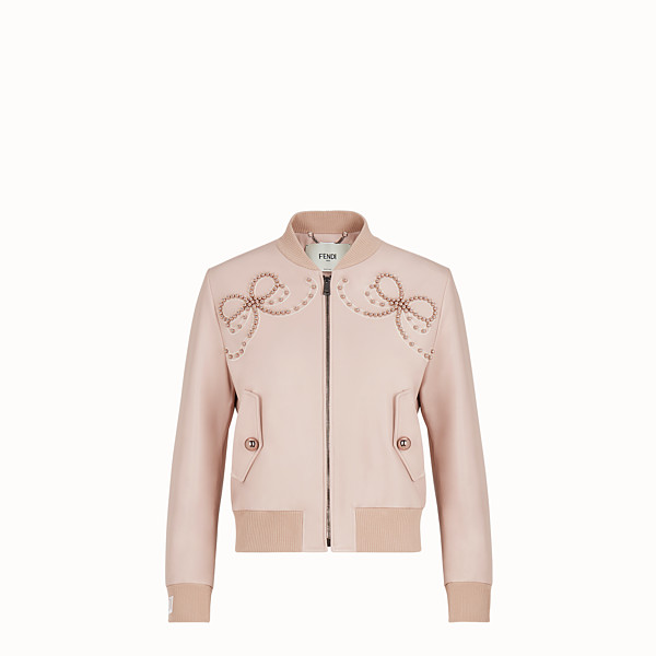 FENDI JACKE - Jacke aus Leder in Rosa - view 1 small thumbnail