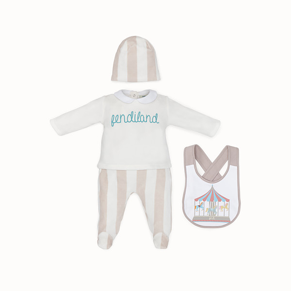 FENDI BABY KIT - Beige and ivory cotton and chenille kit - view 1 small thumbnail