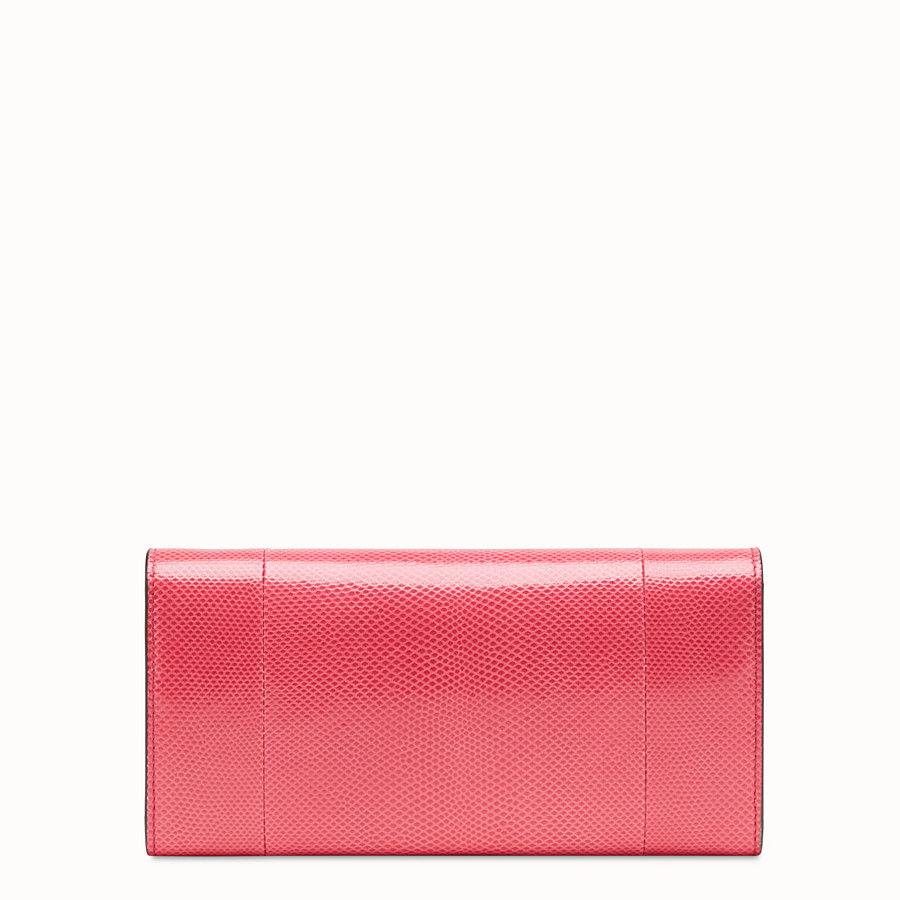 FENDI CONTINENTAL WITH CHAIN - Pink karung wallet - view 3 detail