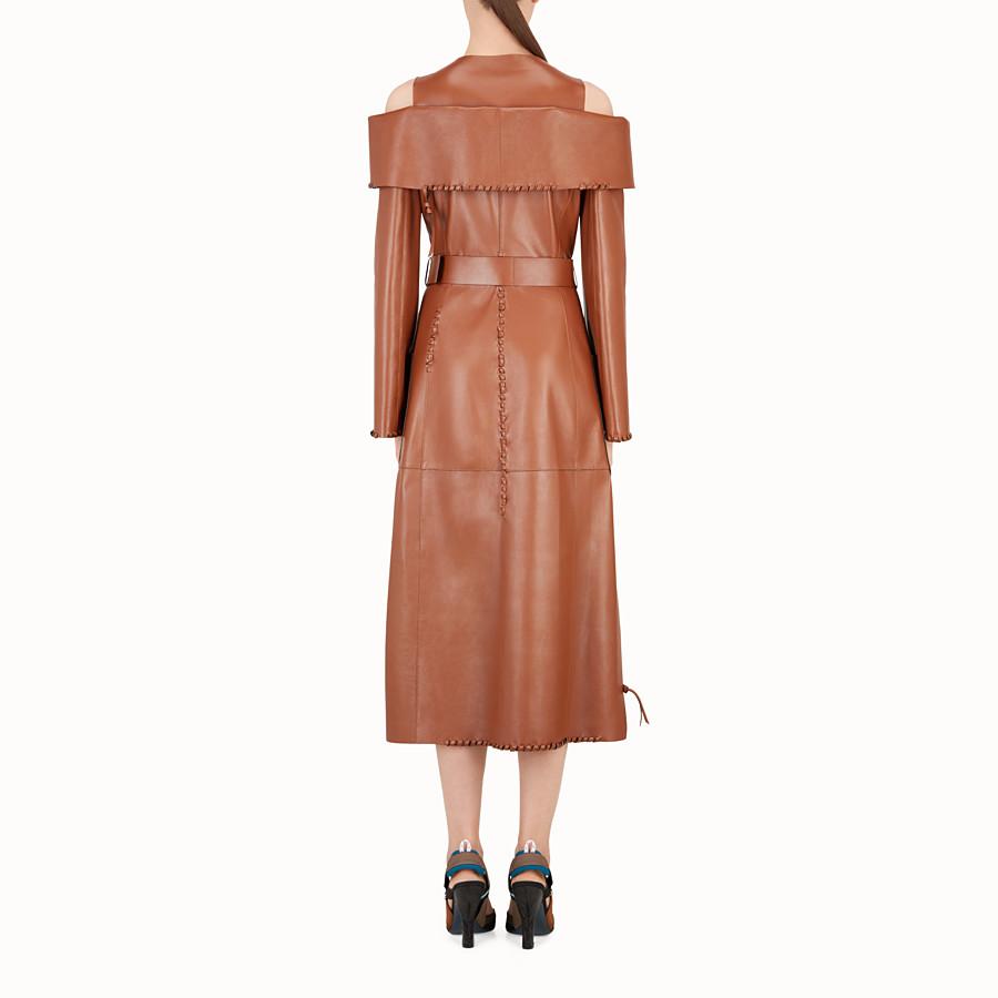 FENDI 外套 - 棕色皮革外套 - view 2 detail