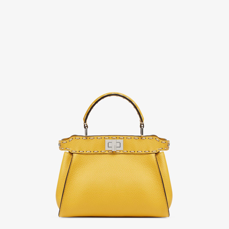 FENDI PEEKABOO ICONIC MINI - Yellow full grain leather bag - view 1 detail