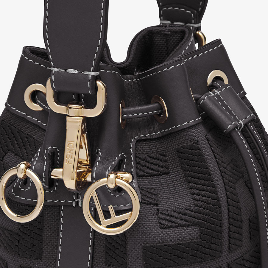 FENDI MON TRESOR - Black canvas mini-bag - view 6 detail