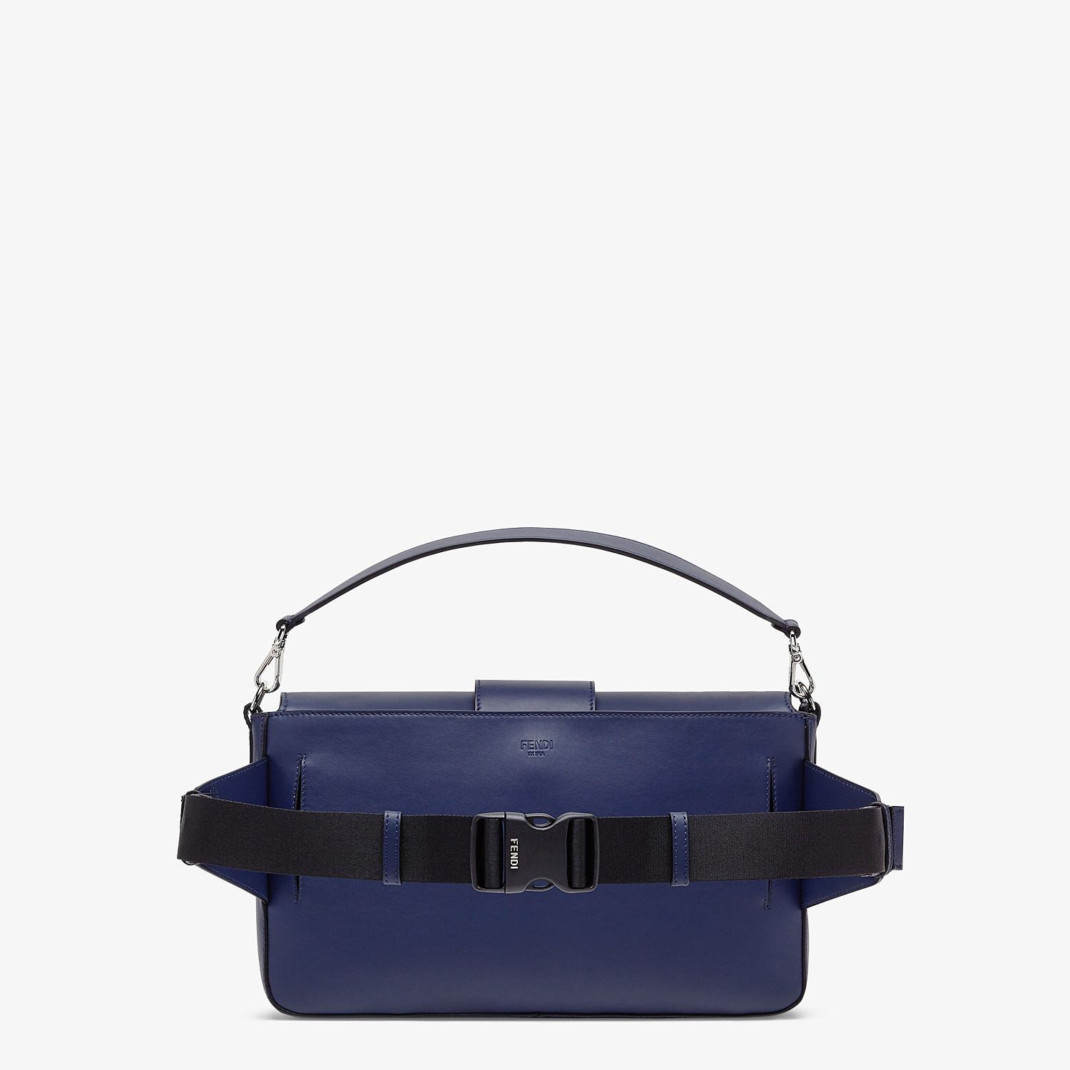 FENDI BAGUETTE LARGE - Blue calfskin bag - view 3 detail