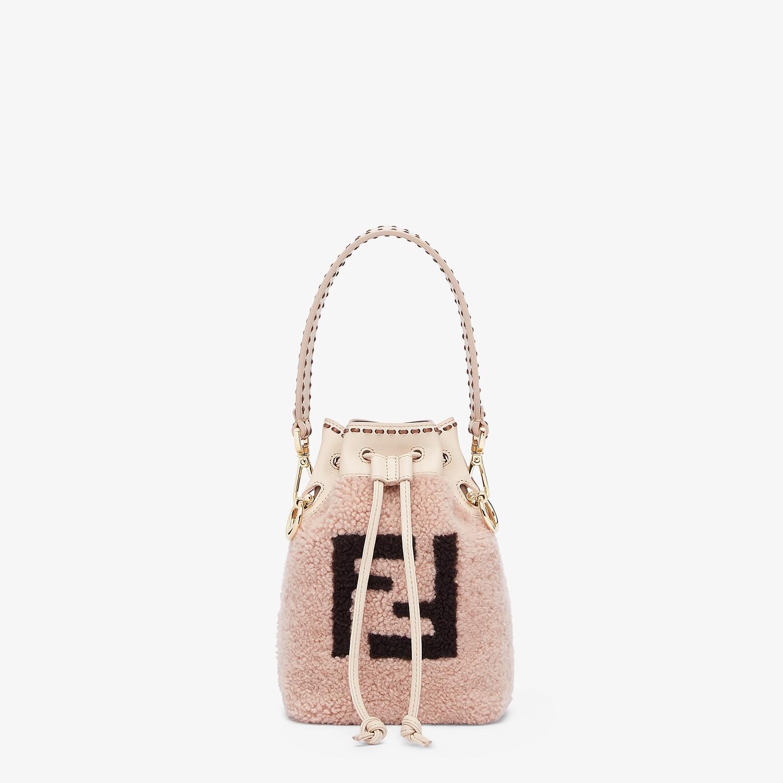 FENDI MON TRESOR - Pink sheepskin mini-bag - view 1 detail
