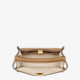 FENDI PEEKABOO X-LITE MEDIUM - Beige leather bag - view 6 thumbnail
