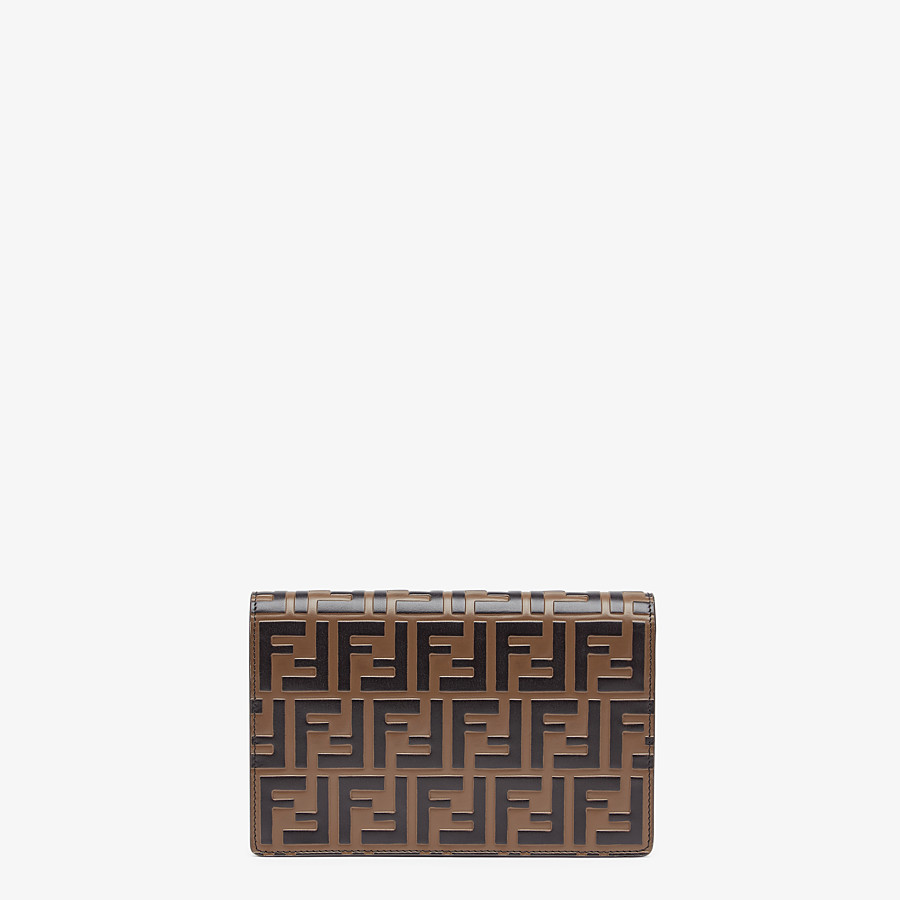 FENDI WALLET ON CHAIN - Red leather mini bag - view 3 detail