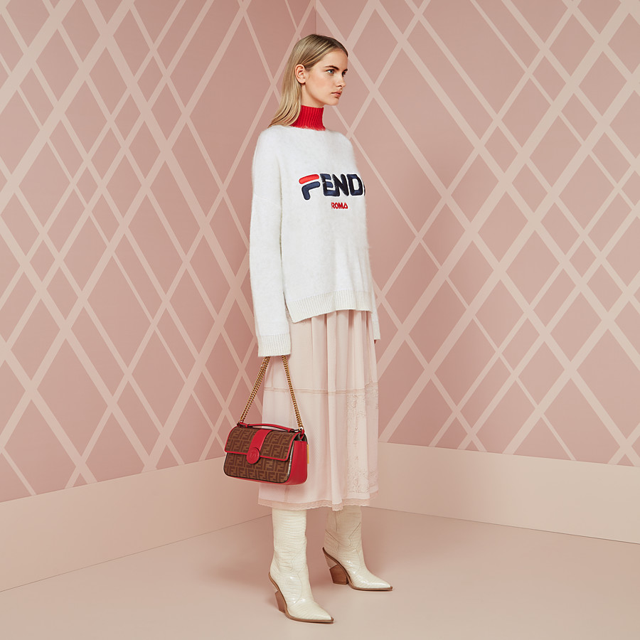 FENDI PULLOVER - White mohair jumper - view 4 detail