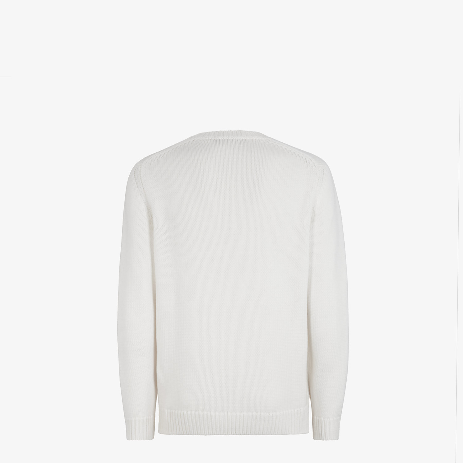 FENDI PULLOVER - White wool sweater - view 2 detail